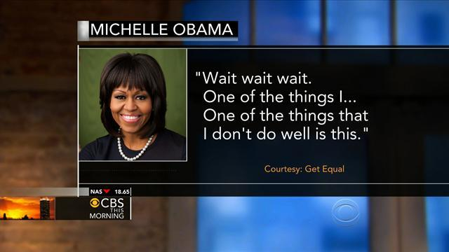 Michelle Obama faces off with a heckler