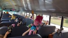 Elementary-school bus driver crochets toys for every kid on her route