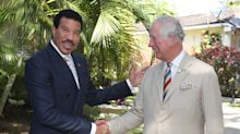 Prince Charles makes a cheeky quip as he meets Lionel Richie on royal tour