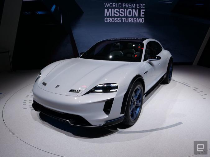 Porsche Mission E (Taycan) Cross Turismo concept car
