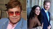 Elton John weighs in on Harry and Meghan's bombshell announement