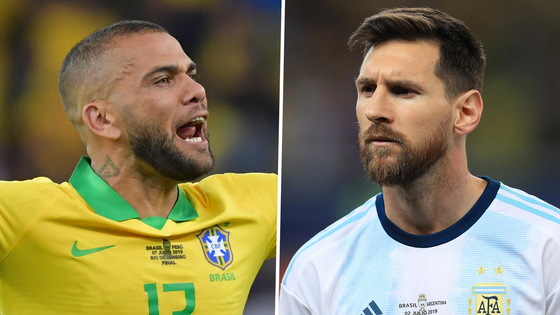Messi Was Disrespectful Alves Criticises Long Time Barcelona Team Mate Following Copa America Corruption Claims