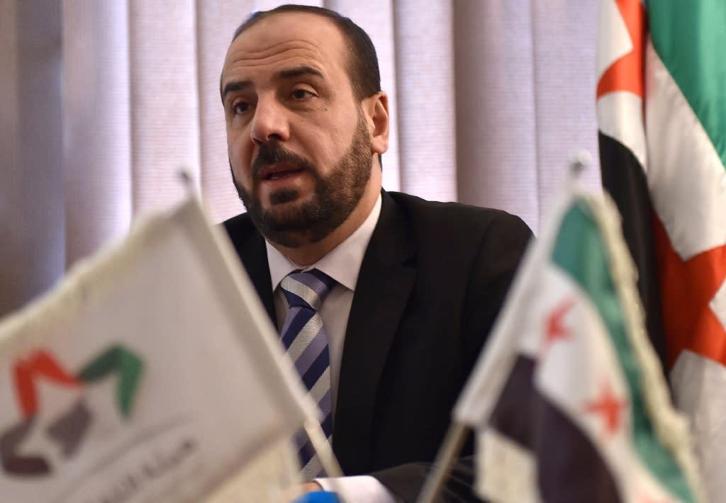 Nasr al-Hariri, chief negotiator of the Syrian Negotiation Commission, in the Saudi capital Riyadh on July 26, 2018