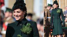 Kate beeindruckt bei der Parade zum St. Patrick's Day in einem grünen McQueen-Mantel