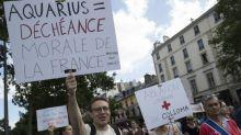 Une manifestation en soutien aux migrantsà Paris