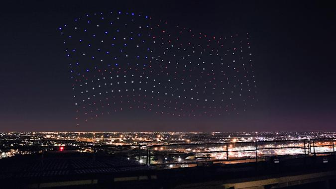 Intel drones form US flag for Lady Gaga's halftime show