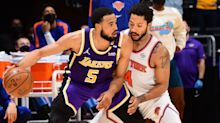 Los Angeles Lakers edge New York Knicks in OT; Golden State Warriors shock Phoenix Suns