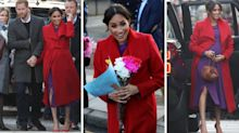 Meghan colour clashes for first 2019 joint engagement with Harry