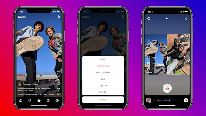 The Remix feature on Instagram Reels