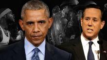 Rick Santorum says Barack Obama 'exacerbated racism' in the U.S.