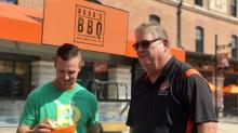 Boog Powell met the original Boog Powell then chatted with another Boog Powell