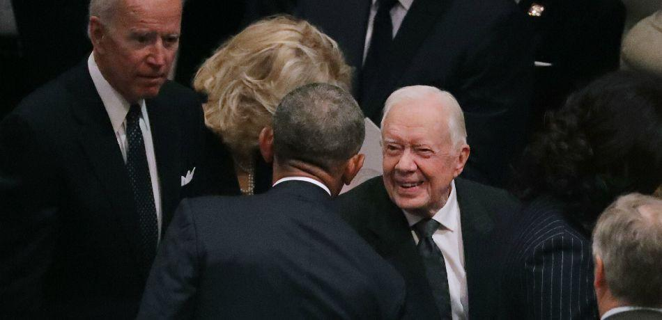 Donald Trump Makes No Effort To Greet Jimmy Carter, The Oldest Living President, At Bush Funeral