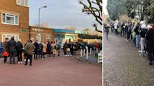 Voters face queues at polling stations for the first time in years as Britain turns out for 'election of a lifetime'