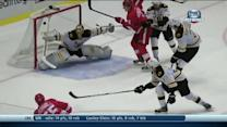 Niklas Kronwall rips goal off a great pass