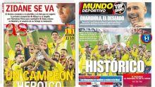 Un Villarreal histórico y los secundarios Zidane y Guardiola, en portada