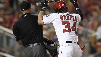 Nationals' Bryce Harper ejected arguing balls and strikes vs. Brewers