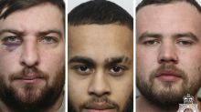 Three jailed for 'brutal' attack on man with a hammer and knife on New Year's Eve