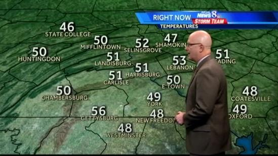 Mostly sunny, breezy conditions expected today