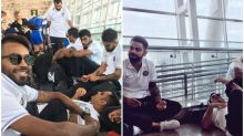 MS Dhoni takes power nap at Chennai Airport after thumping Australia