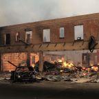 Fire tears through Northern California town