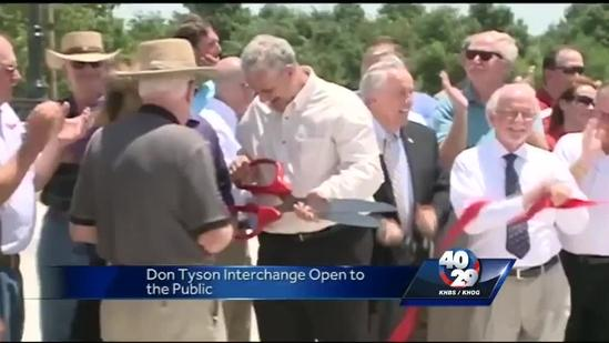 Don Tyson Interchange open for drivers