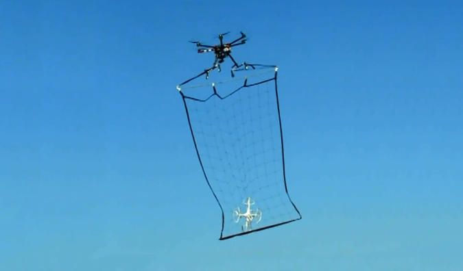 Tokyo's solution to rogue drones? Drones with nets