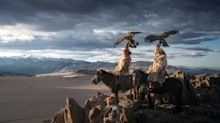 Eagle-eyed! Photographer captures stunning pictures of world's last remaining Mongolian eagle keepers