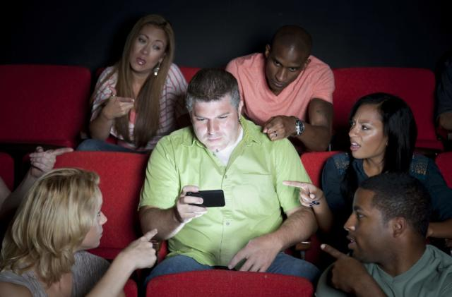 AMC is considering letting people text in movie theaters