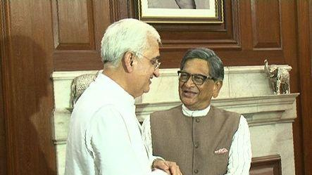 Salman Khurshid takes charge as external affairs minister