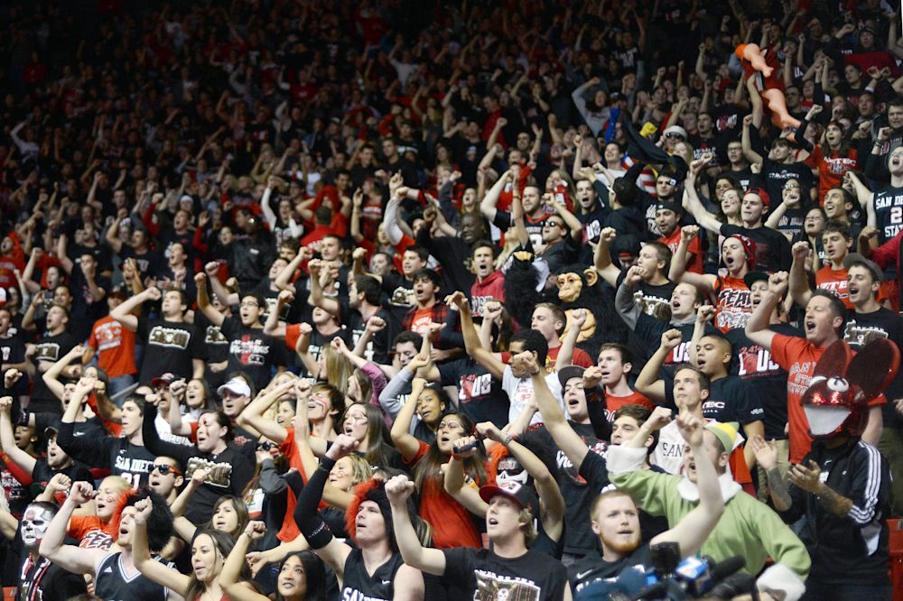 San Diego State fans do the chant before every home basketball game. (USA TODAY Sports)