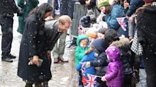 Meghan Markle and Prince Harry get in some parenting practice in snowy Bristol