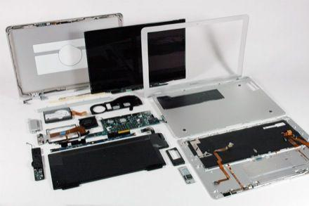 MacBook Air splayed -- multi-touch trackpad controller chip same as iPhone
