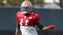 Brandon Aiyuk, Dee Ford leave 49ers practice with injuries
