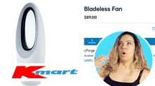 Kmart's $89 'knock-off' bladeless fan a hit with shoppers