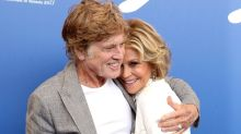 Jane Fonda Cuddles Up to Co-Star Robert Redford at Venice Film Festival -- See the PDA Pics