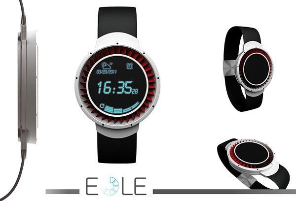 Eole concept watch has turbine bezel, shows time when you blow (video)