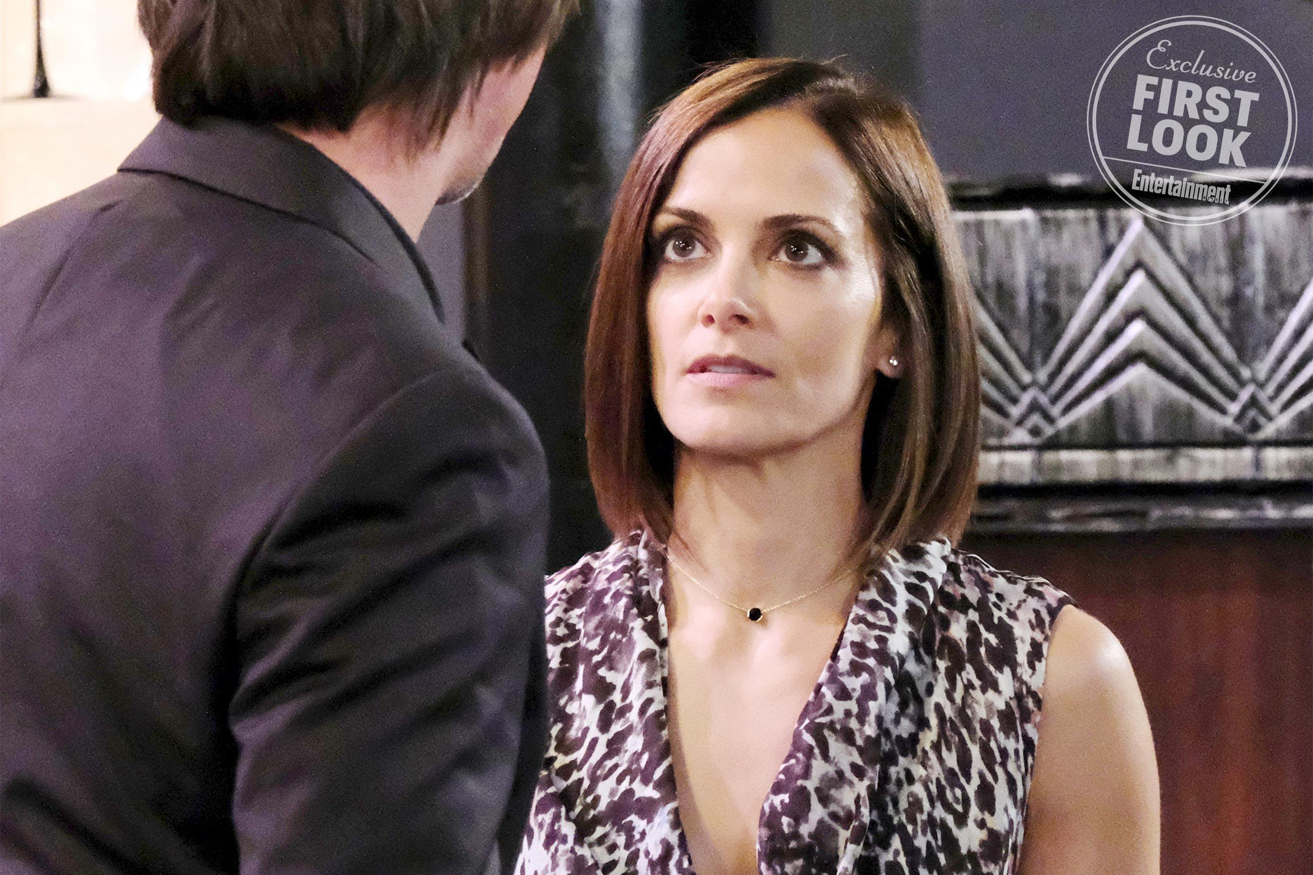 here's a first look at rebecca budig back on general hospital