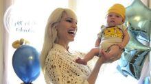 Así festejó Vicky Xipolitakis el primer mes de su hijo, Salvador Uriel