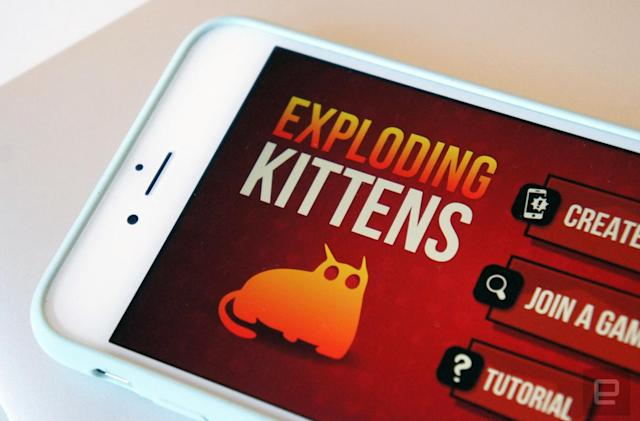 'Exploding Kittens' comes to iOS with local multiplayer