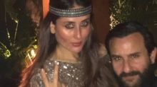 PHOTO: Saif Ali Khan and Kareena Kapoor Khan look loved-up at Amrita Arora's birthday bash