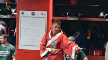 Capitals hand out glorious boxing robe to best players (Photos)