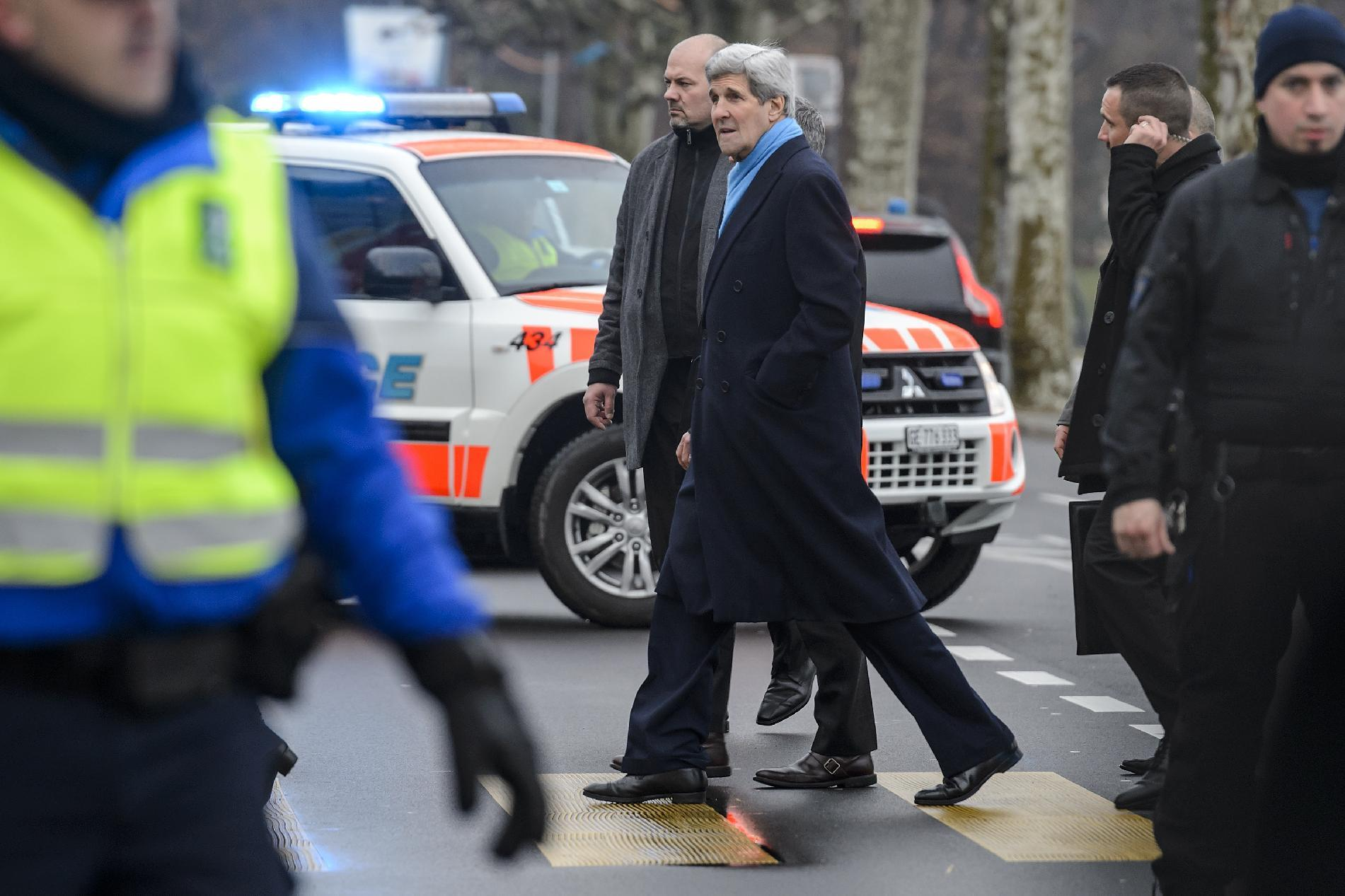 US Secretary of State John Kerry, pictured, met twice in Geneva with Iranian Foreign Minister Mohammad Javad Zarif on Sunday and Monday