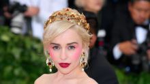 Emilia Clarke Wore ALL The Blush To The Met Gala