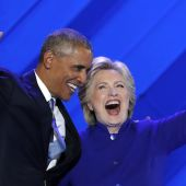 "Barack Obama Joined Onstage By Hillary Clinton At DNC, Blasts Donald Trump As ""Self-Declared Savior"""