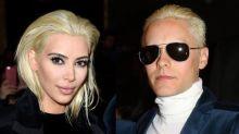 Kim Kardashian and Jared Leto Go Platinum Blonde