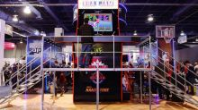 Playing 'NBA Jam' on a 16-foot cabinet at CES 2020