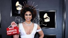 Grammys 2019: Trump supporter Joy Villa wears a 'Build the Wall' gown