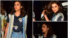 FASHION CULPRIT OF THE DAY: Parineeti Chopra, The Striped Jacket Is As Useless A Part Of Your Look As A Movie Ticket After Showtime
