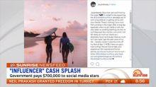 Criticism for government 'influencer' cash splash