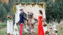 Domesticated Bear Performs Wedding Ceremony